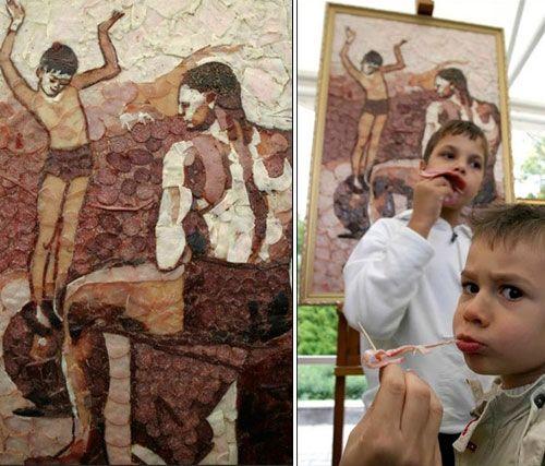 Выставка произведений искусства из мяса