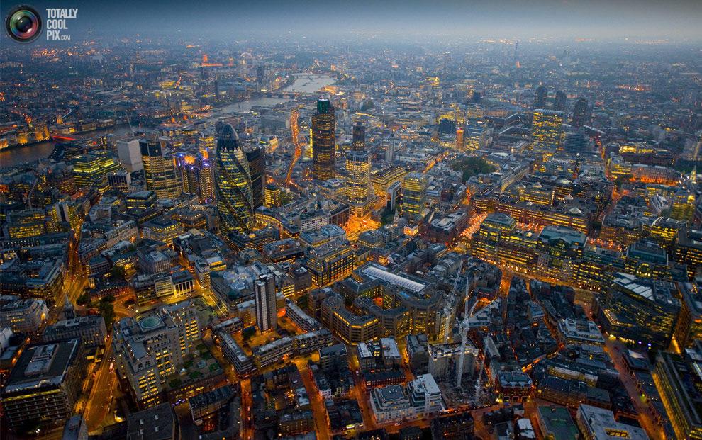 На лондон с высоты птичьего полета