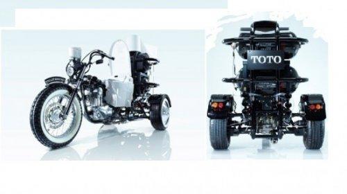 Два в одном: мотоцикл и био-туалет