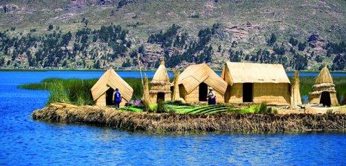 Плавучие острова озера Титикака