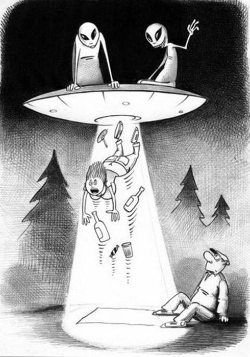 Сделать открытку, инопланетянин смешной картинки