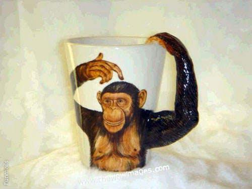 Прикольные чашки в виде животных