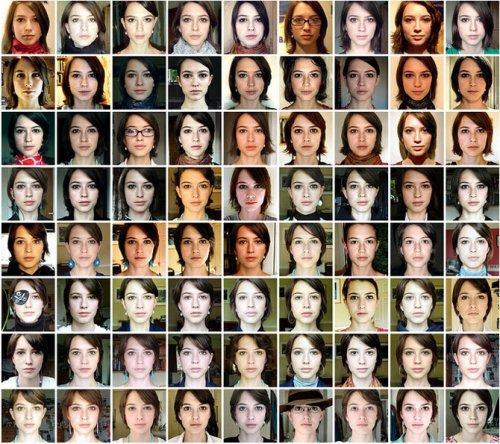 Портрет из 500 разных фотографий