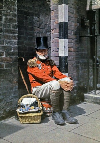 Старушка Англия на цветных фото 1928 года