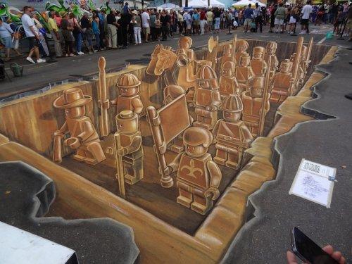 3D-коллажи из мела