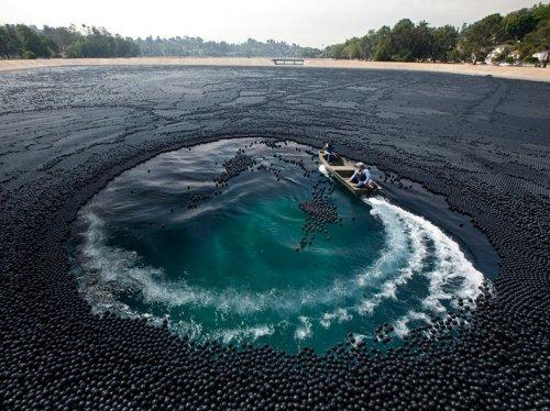 400 тысяч шариков в борьбе с ультрафиолетовым излучением
