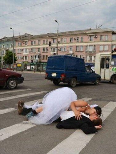 Странная свадьба в Донецке