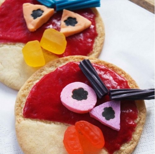 Прикольные десерты с дизайном Angry Birds