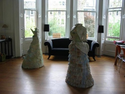 Викторианские платья из купюр