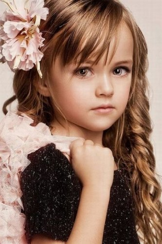 Beautiful child model Kristina Pimenova.  Moscow, Russia.