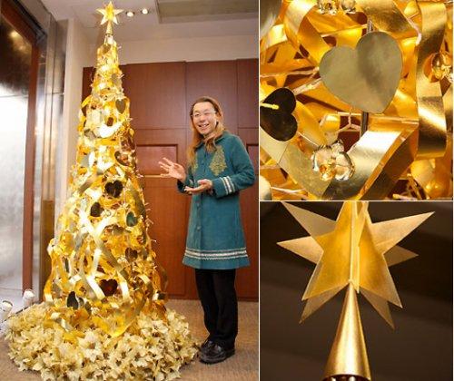 Новогодняя елка из золота за 2 млн долларов