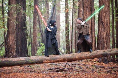 Фотосессия помолвки в стиле Звездных войн