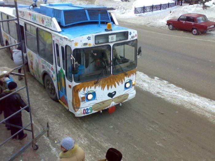 Прикольные картинки троллейбус, картинки пожеланиями