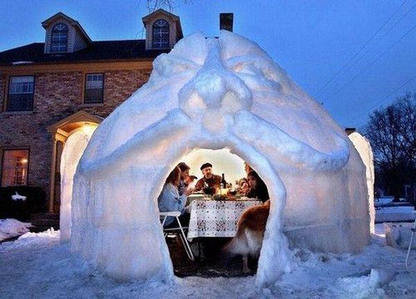 Как сделать снежный дом своими руками - ЮгАгро