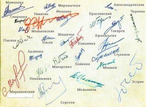 Определяем характер по подписи