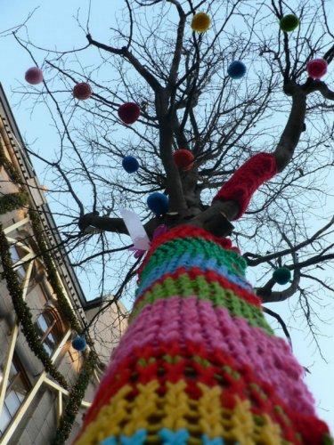 Шерстяной стритарт - Urban knitting