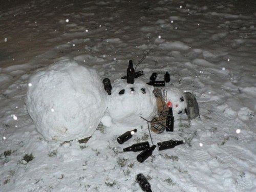Выпившие снеговики