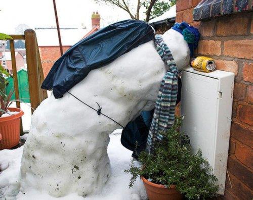 Снеговики празднуют Новый Год
