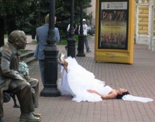 Смешные свадебные фото (15 шт)