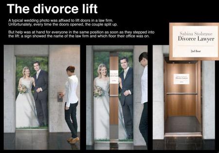 Самые изобретательные рекламы на лифтах