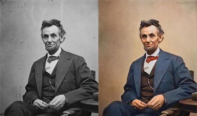 как сделать из чёрно-белой фото цветную