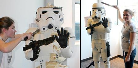 Торт в виде штурмовика из Звездных войн