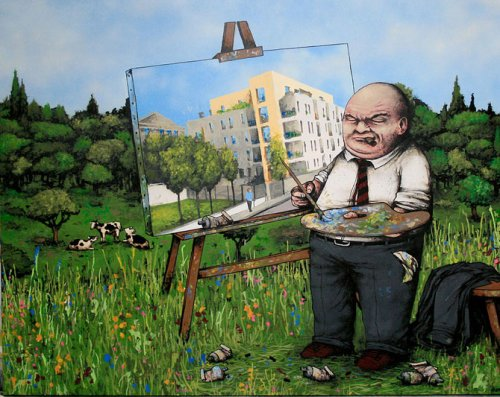 Черный юмор от французского художника