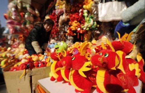 Подготовка к Новому году Дракона в Китае