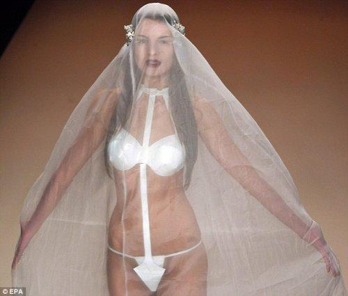 Свадебное платье-купальник