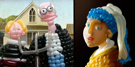 Воздушные шарики на службе у искусства
