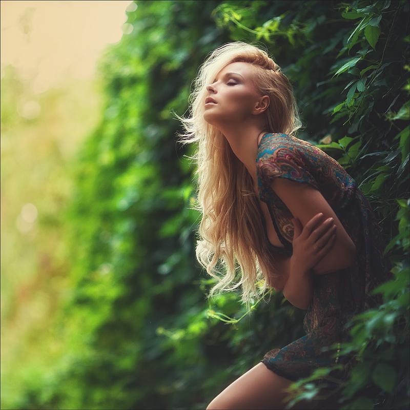 красивые очень женщины на природе фото