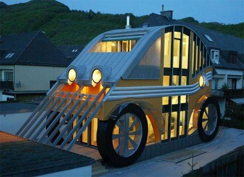 Оригинальный дом-автомобиль
