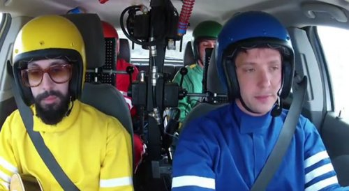 Музыка группы OK Go, сыгранная во время поездки на машине