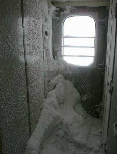 Зимой на поезде