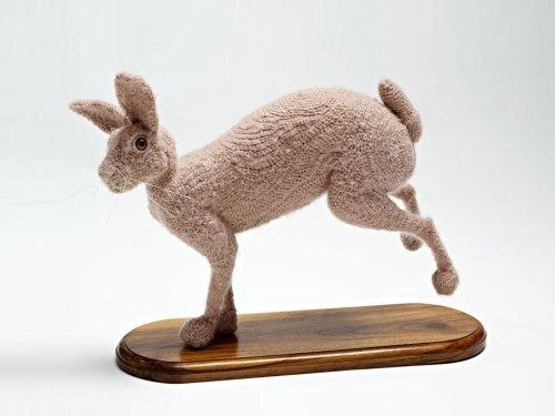 Вязаные крючком скульптуры животных
