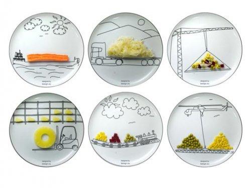 Тарелки с рисунками транспорта