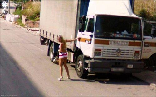 Прикольные фото с Google Street View
