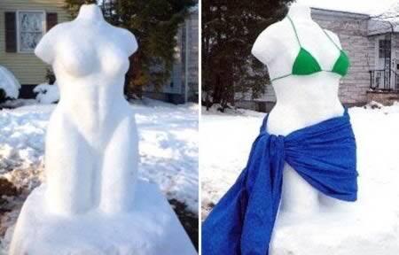 Самые странные снеговики