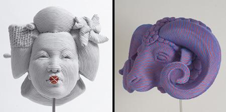 Скульптуры из нейлона от Моцарта Гуэрра
