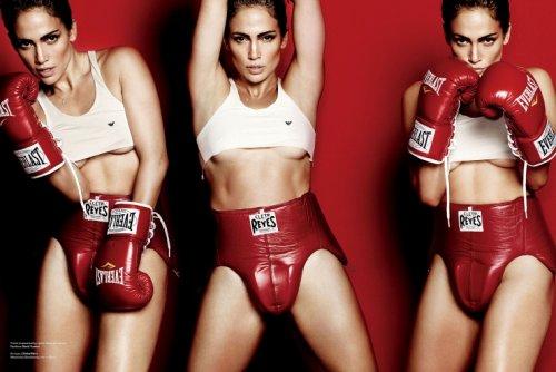 Дженнифер Лопез примерила боксерские перчатки