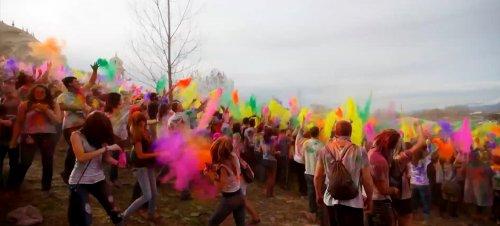 Фестиваль красок в штате Юта