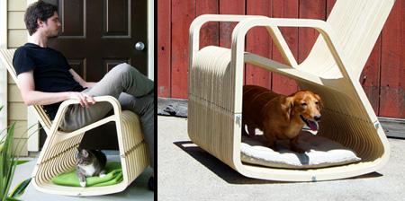 Кресло-качалка для владельцев домашних питомцев