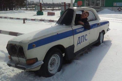 Прикол с полицейской машиной