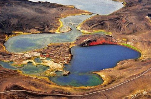 Исландия сверху