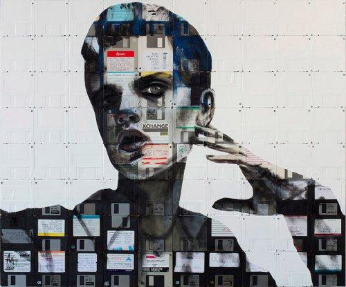 Портреты из флоппи-дисков