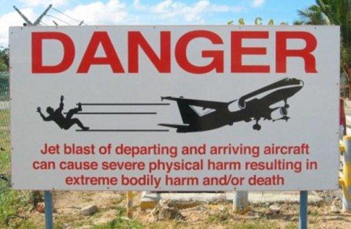 Чуть не убило самолетом