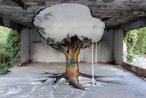 Анаморфное граффити