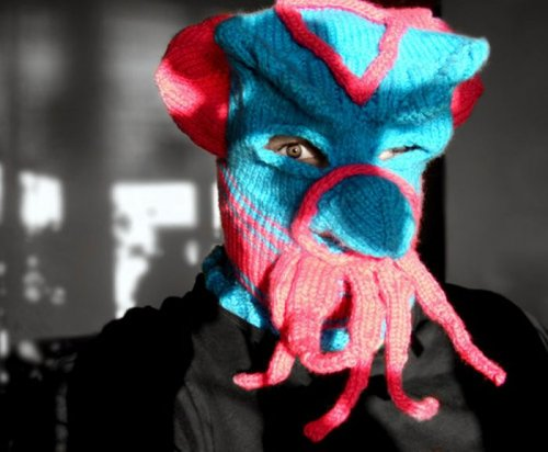 Вязаные маски-приколы