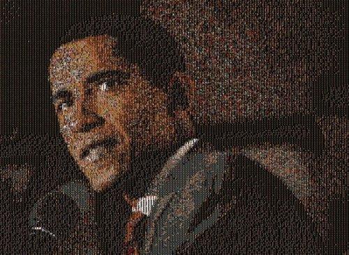 Портреты-мозаика из тысяч крохотных фото