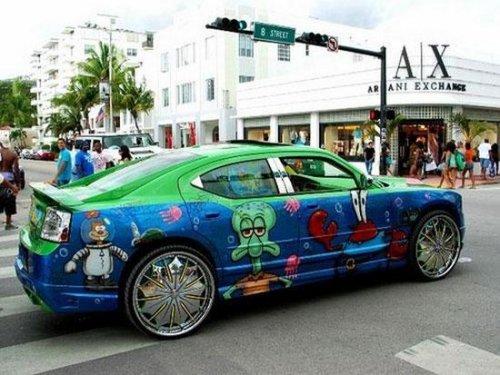 Прикольные рисунки на автомобилях